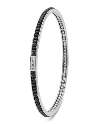 Image 2 of 3: Caviar™ Icon Beaded Stone Bangle Bracelet