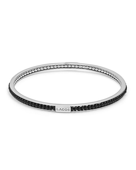 Image 1 of 4: Lagos Caviar Icon Beaded Stone Bangle Bracelet