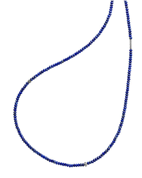 Image 1 of 5: Lagos Caviar Icon Long Single-Strand Bead Necklace, 34""