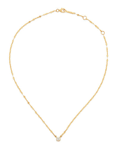 14k Solo Blake Diamond Pendant Necklace