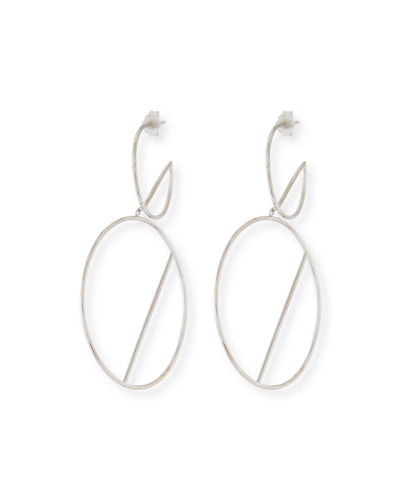 14k Double-Wire Eclipse Hoop Earrings