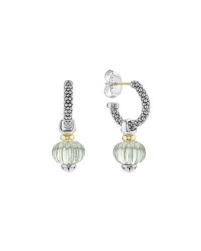 18k Caviar Forever Melon Bead Hoop Earrings