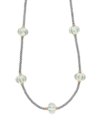 Image 1 of 5: 18k Caviar™ Forever Five-Melon Bead Rope Necklace