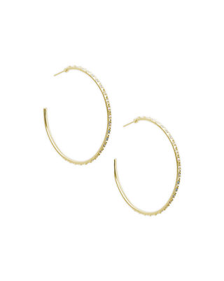 Kendra Scott Val Crystal Hoop Earrings