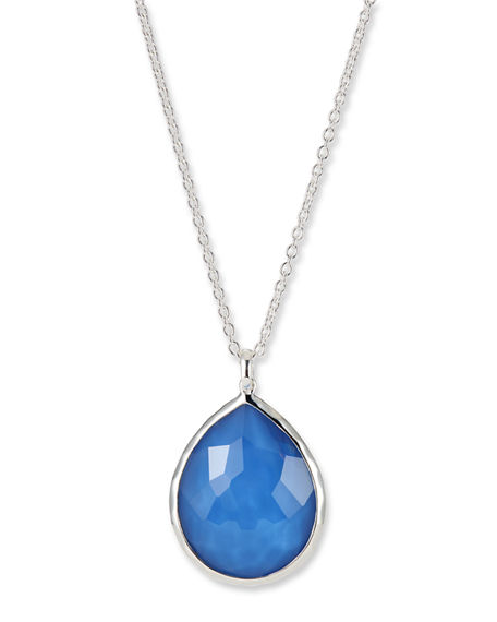 Ippolita Jewelry SILVER TEARDROP PENDANT NECKLACE
