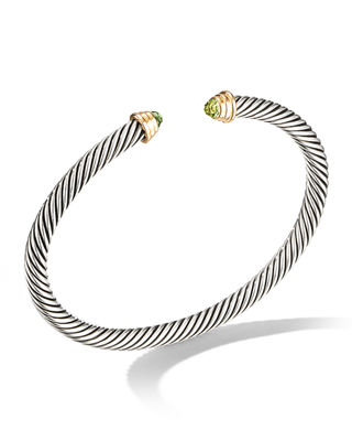 David Yurman Kid's Birthstone Cable Bangle