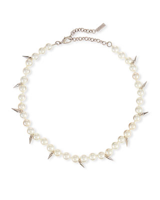 Fallon Linda Pearly Spike Choker Necklace