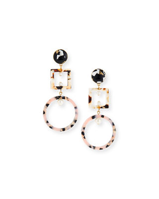 Geometric Cage Drop Earrings