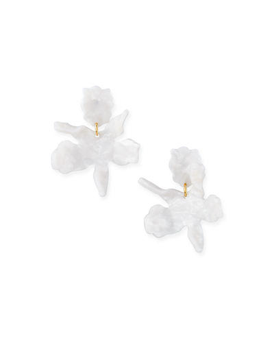 Lele Sadoughi Small Paper Lily Earrings