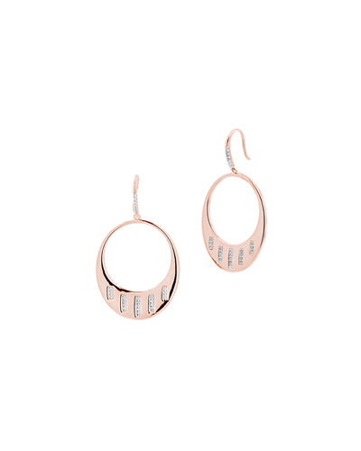 Radiance Drop Hoop Earrings w/ Cubic Zirconia