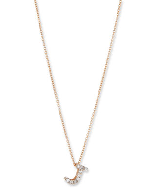 Kismet by Milka 14k Diamond Initial Pendant Necklace nRNVVExzs