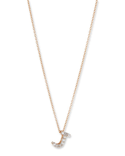 14k Diamond Initial Pendant Necklace