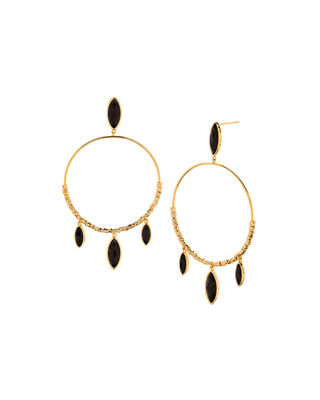 gorjana Palisades Marquise Hoop Earrings