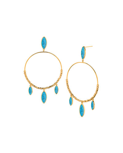 Palisades Marquise Hoop Earrings