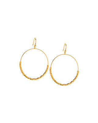 Laguna Drop Hoop Earrings, Gold