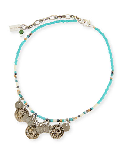 African Turquoise Seed Bead Anklet