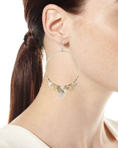 Coin Hoop Earrings