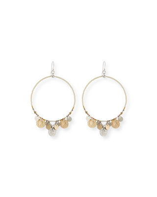 Chan Luu Coin Hoop Earrings