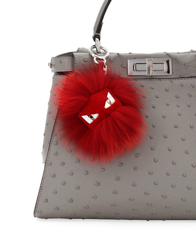 Bag Bugs Monster Fox and Rabbit Fur Bag Charm