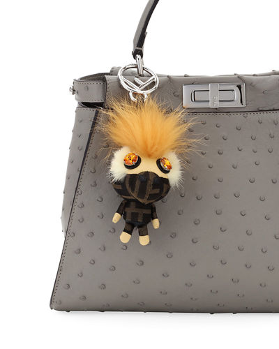 Space Monkey Mink and Fox Fur Mohawk Charm