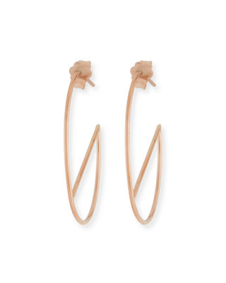 LANA 14k Eclipse Wire Hoop Earrings
