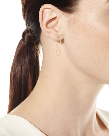 Image 2 of 2: Lana 14k Eclipse Wire Hoop Earrings