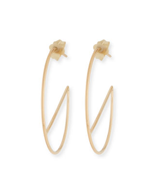 Lana Jewelry 14k Double-Wire Eclipse Hoop Earrings h0Zt2fCXJU