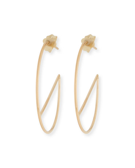 Image 1 of 2: Lana 14k Eclipse Wire Hoop Earrings