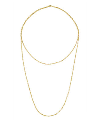 LANA 14K Double Blake Layered Chain Necklace in Yellow Gold