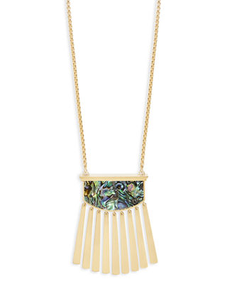 Image 1 of 2: Ellen Pearlescent Pendant Necklace
