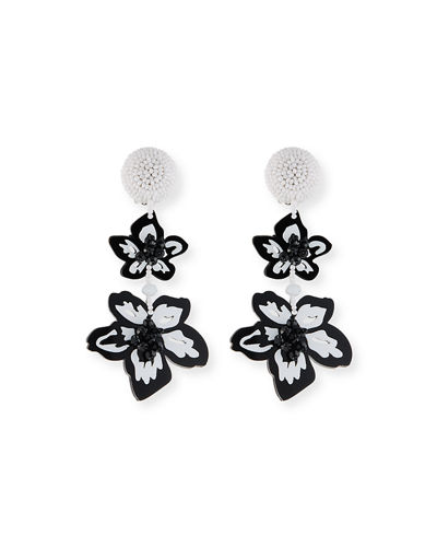 Luau Floral Drop Earrings