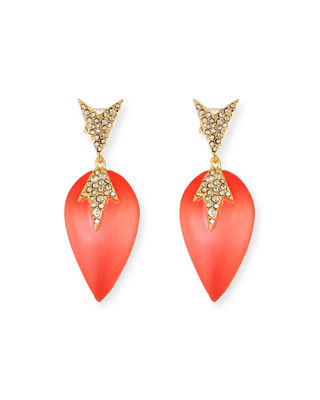 Alexis Bittar Crystal Encrusted Dangle Earrings