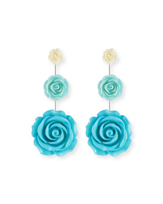Dannijo Beck Triple Flower Drop Earrings 2R64Q