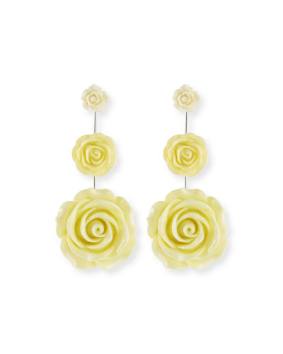 Beck Triple Flower Drop Earrings