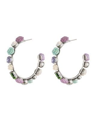Dannijo Wonder Flower Hoop Earrings
