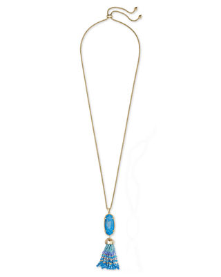 Kendra Scott Eva Adjustable Tassel Pendant Necklace, 32