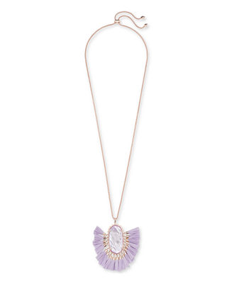 Betsy Adjustable Fringe Pendant Necklace, 32""