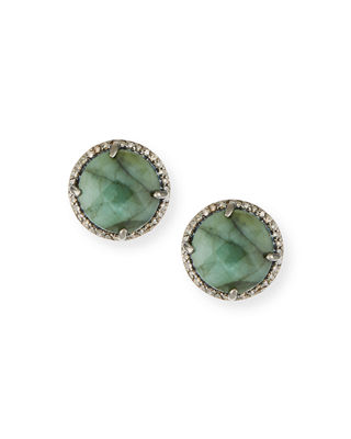 Margo Morrison Pavé Diamond Disc Stud Earrings