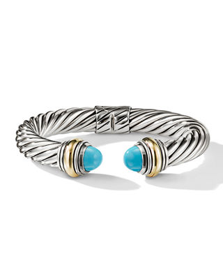 David Yurman Cable Classics Silver Kick Cuff Bracelet