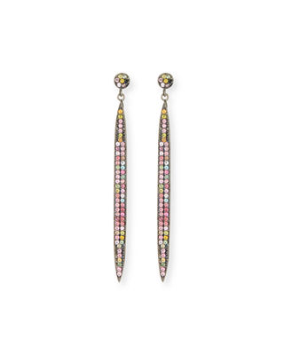 Pavé Spear Dangle Earrings