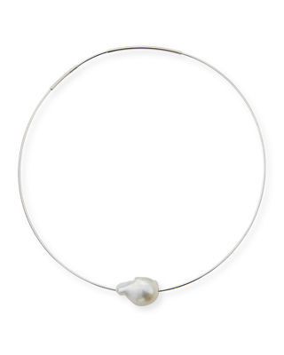 Margo Morrison Baroque Pearl Choker Necklace, 16