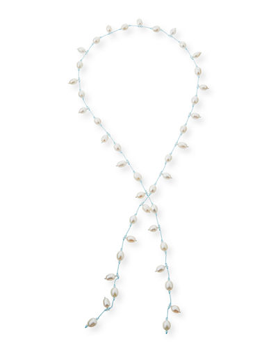 Dancing Pearl Lariat Necklace