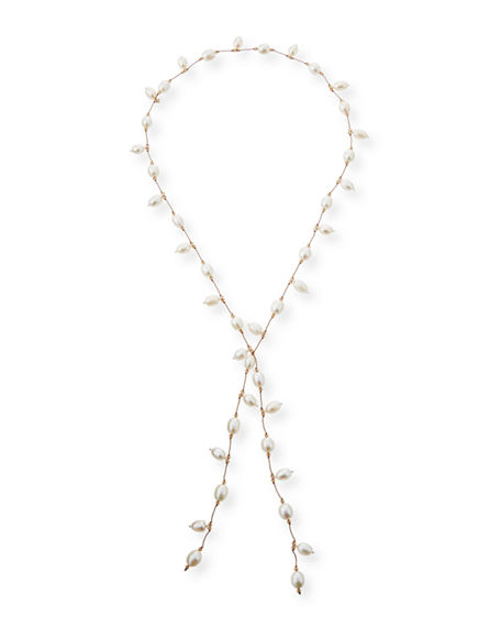 Image 1 of 3: Margo Morrison Dancing Pearl Lariat Necklace