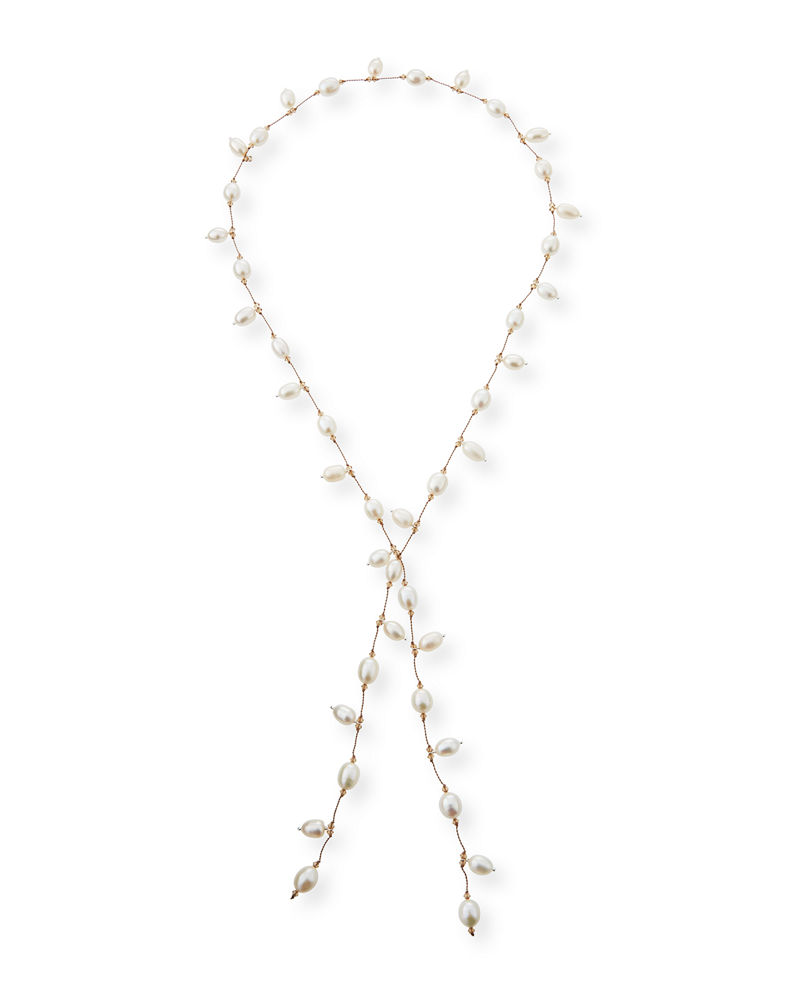 Margo Morrison Dancing Pearl Lariat Necklace