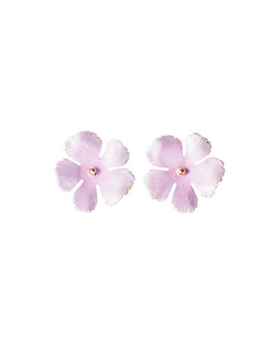 Grace Hand-Painted Flower Stud Earrings