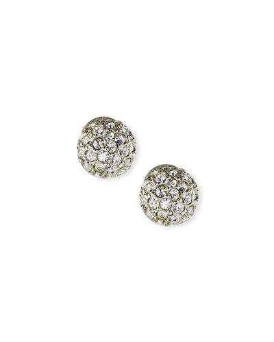 Crystal Pavé Stud Earrings