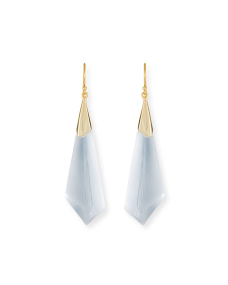 Alexis Bittar 10k Faceted Lucite® Wire Drop Earrings