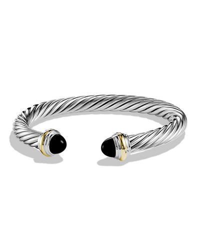 Cable Classic Bracelet w/ Stone Ends