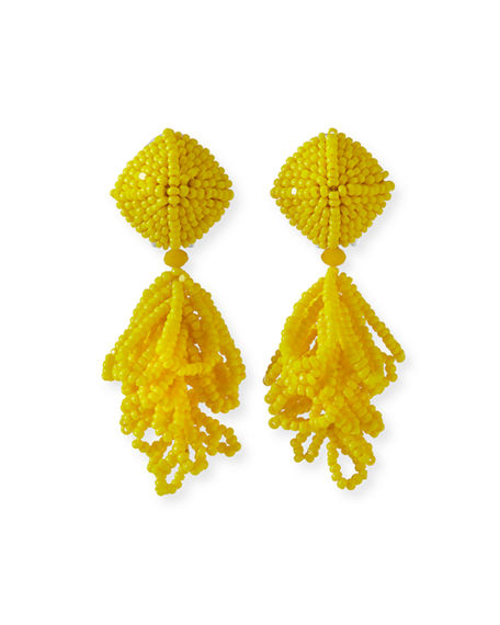 Sachin & Babi MINI LULU SEED BEAD CLIP-ON EARRINGS