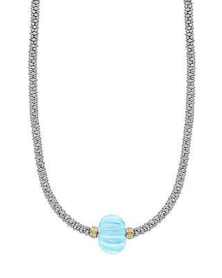 Lagos 18k Caviar Forever One-Melon Bead Rope Necklace